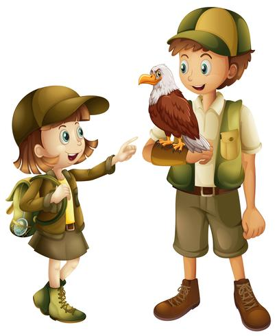Girl with zoo keeper character