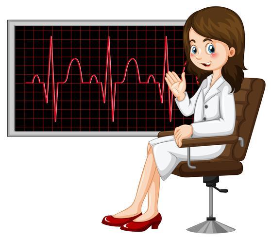 Dottore e grafico elettronico