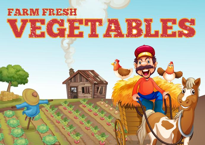 Bauernhof-Frischgemüse-Thema