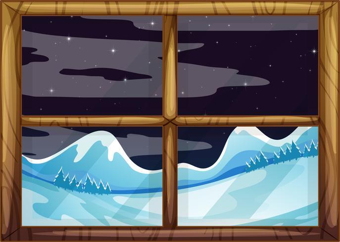Una vista fuori dalla finestra