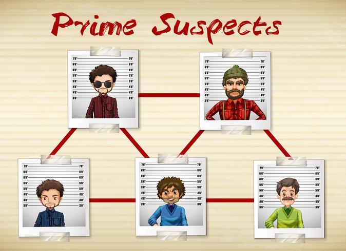 Foto di uomini che sono i primi sospettati