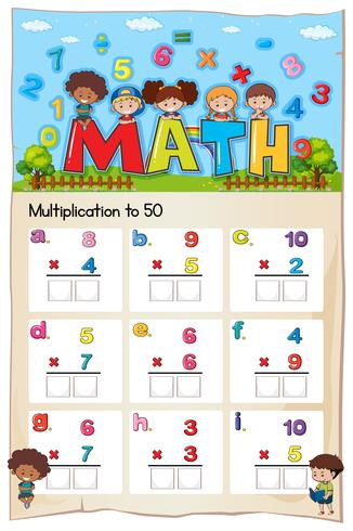 Arbeitsblatt zur Mathematik-Multiplikation für Studenten