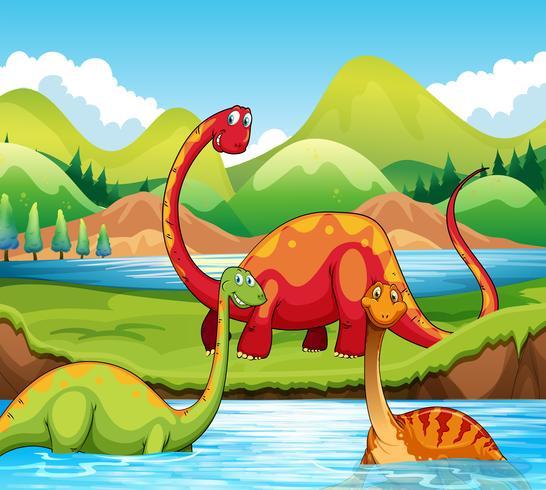Dinosaure dans la nature