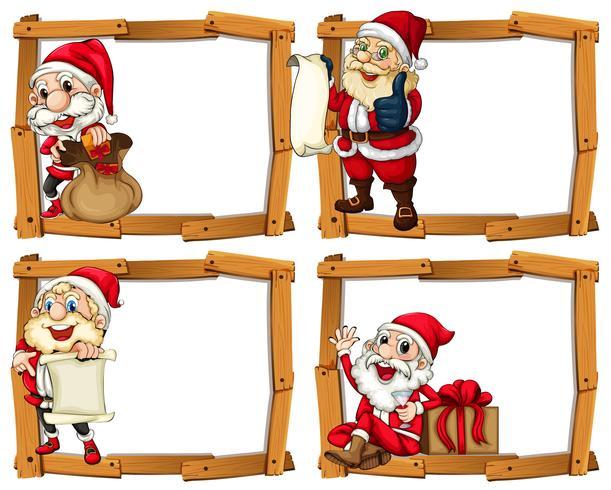 Modelli di cornice in legno con Babbo Natale