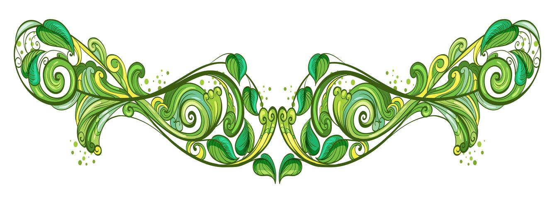 A leafy design frame