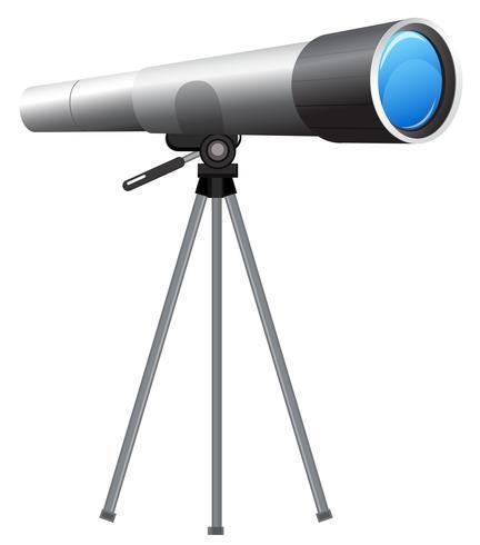 Telescope on white background
