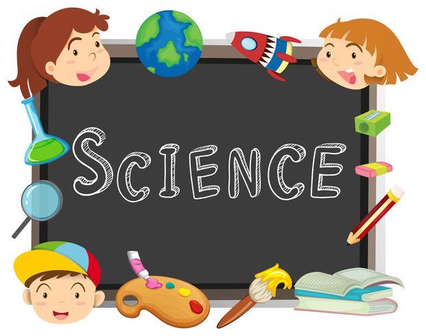 Word science sur tableau noir