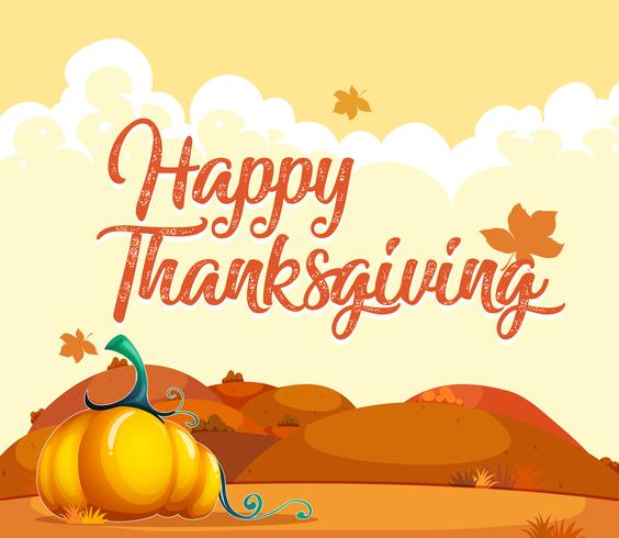 Happy thanksgiving pumpkin card