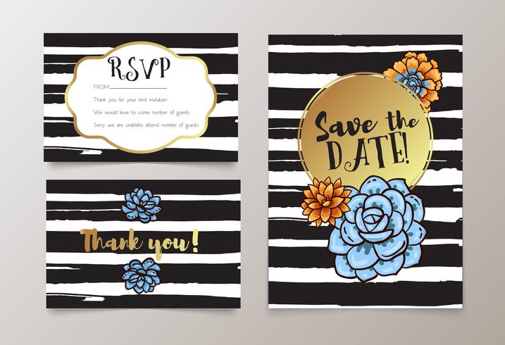 weddings, save the date invitation, RSVP and thank you