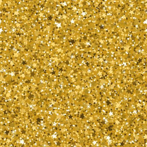 Sömlös gul guld glitter konsistens gjord med små stjärnor. vektor
