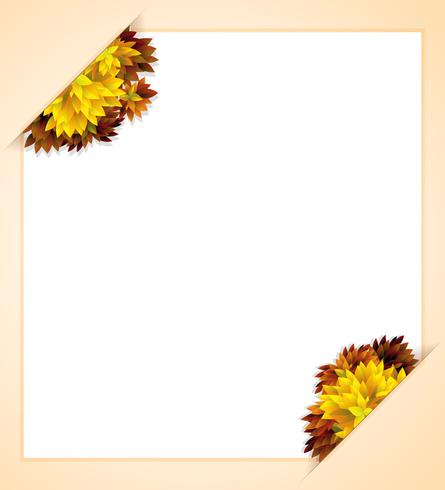 Un modello di autunno vuoto