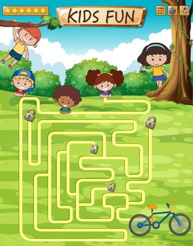 Plantilla de juego divertido para niños