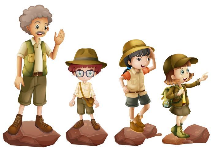 Uma família de exploradores