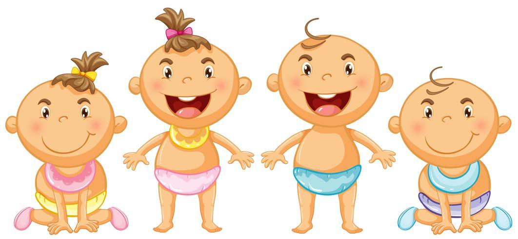 Pojke och tjej småbarn