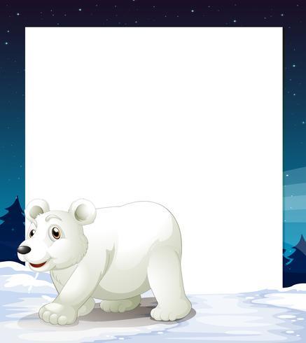 Eine leere Vorlage mit einem Eisbären