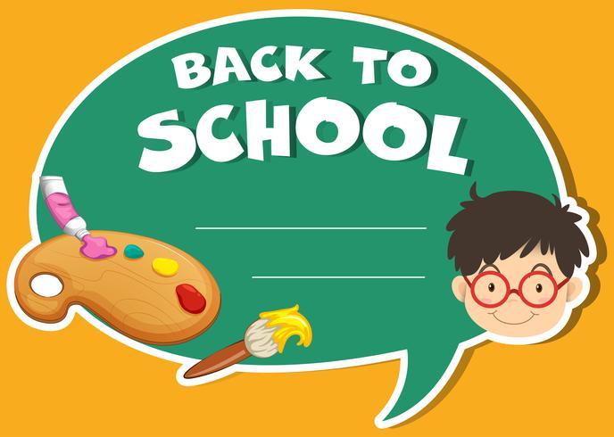 Papierdesign mit Back to School-Thema