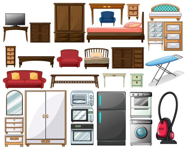 Móveis e equipamentos eletrônicos