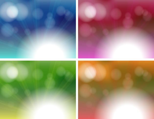 Four unique background templates