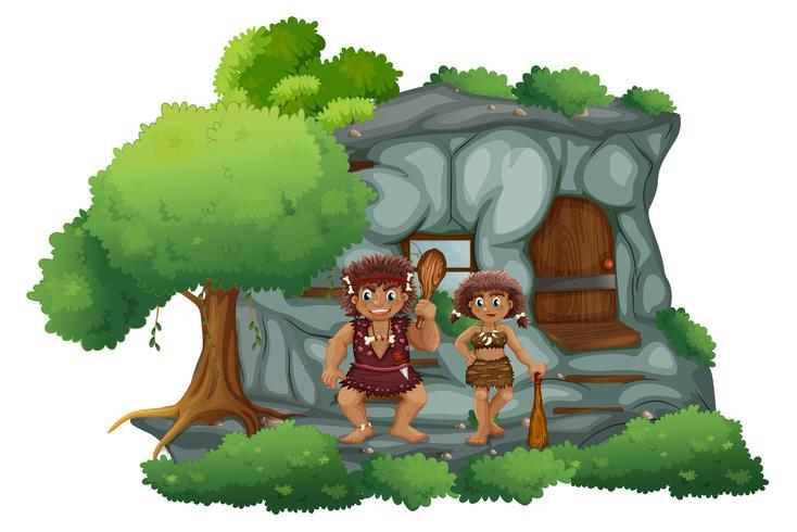 Uomini delle caverne scarica gratis arte vettoriale elementi