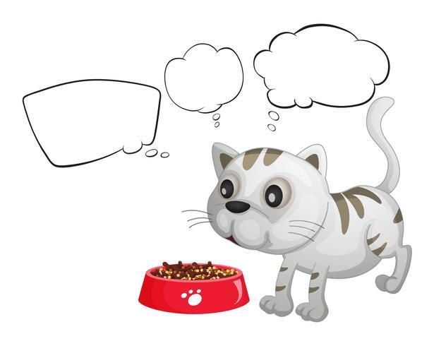 Een kat en de lege bubbeltonen