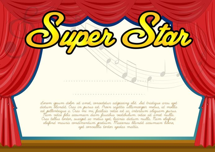 Certification template for super star