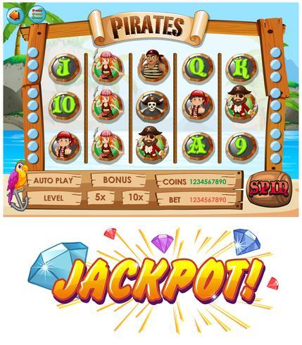 Modello di gioco con personaggi dell'equipaggio dei pirati