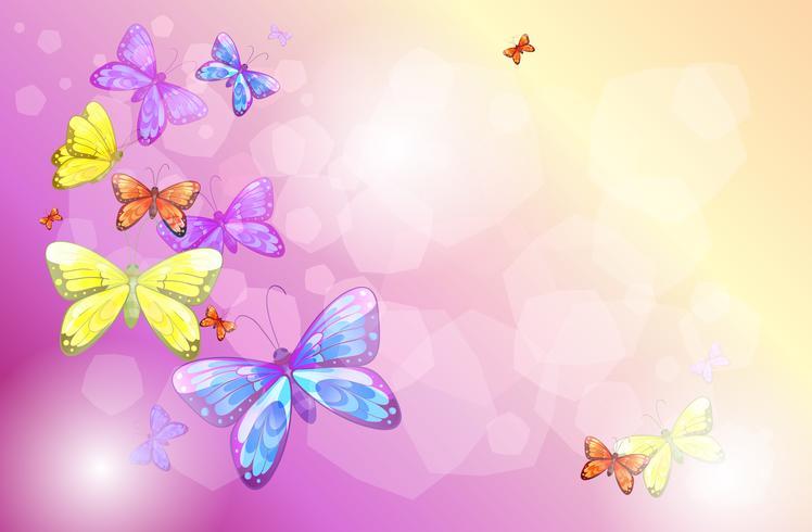 Een kantoorbehoeften met kleurrijke vlinders