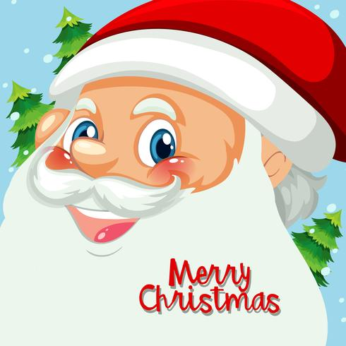 Happy santa gezicht sjabloon