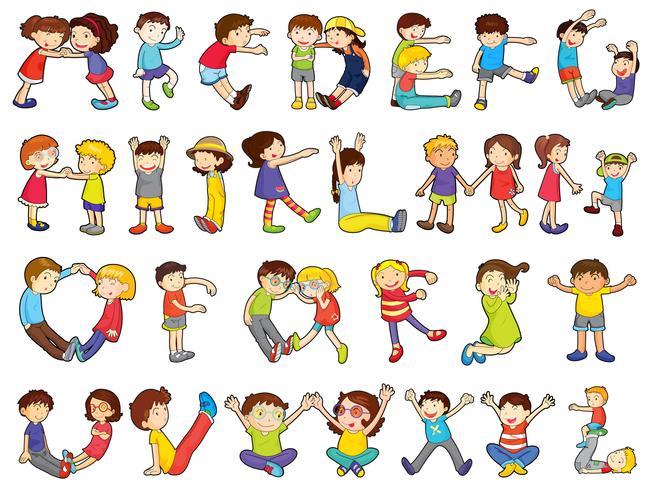 alfabet i barnaktiviteter