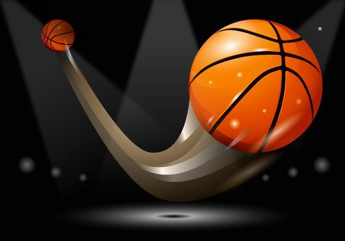Ilustração realista do vetor de efeito de traço de basquete