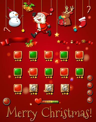 Spelsjabloon met christmast-objecten