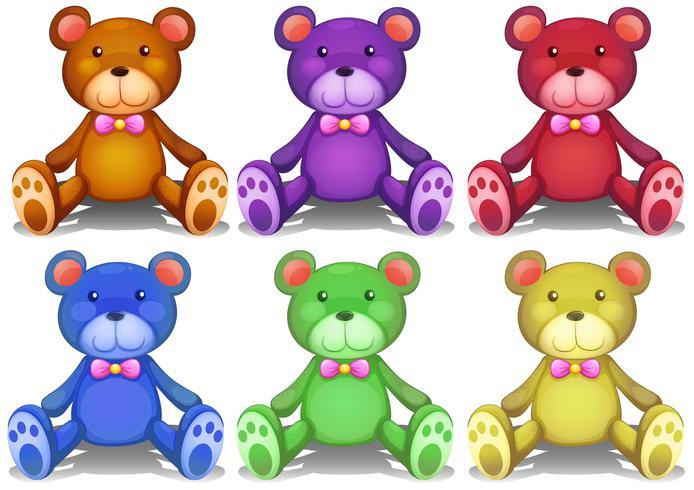 Ursos de peluche coloridos