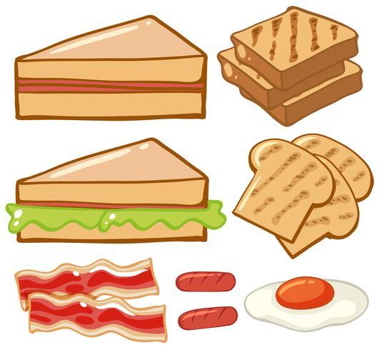 Verschiedene Frühstücksarten