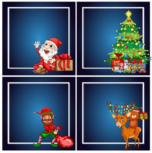 Set van Kerstmis frame