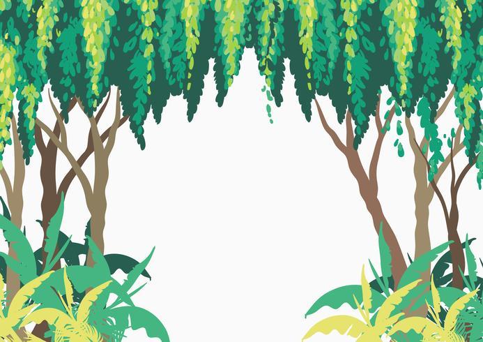 Projeto de plano de fundo com árvores na floresta