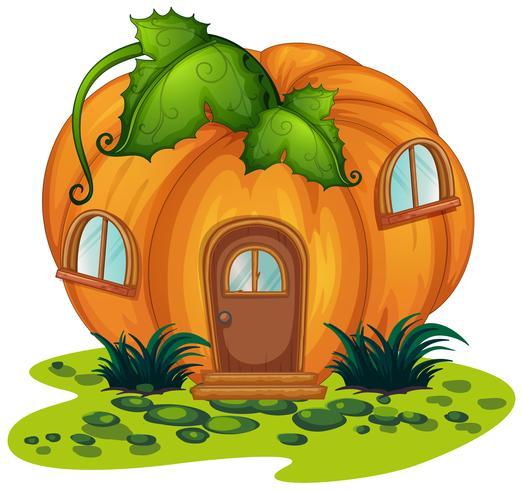 Casa de abóbora no jardim