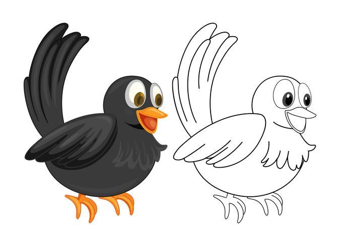 Tierentwurf für Krähe
