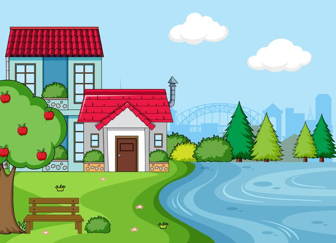 A simple house landcape