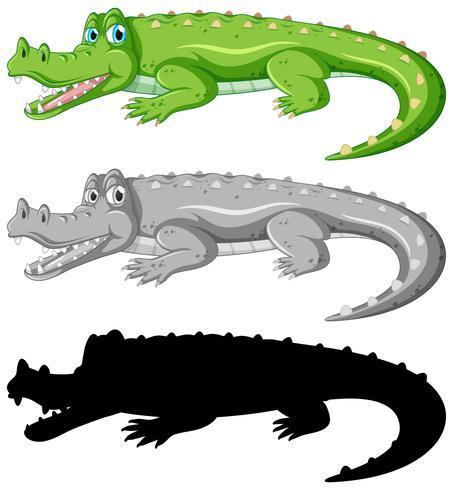 Ensemble de personnage de crocodile