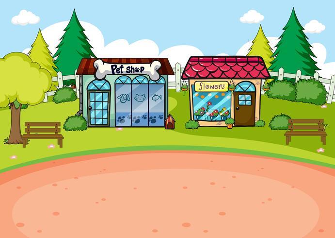 A simple rural shop scene