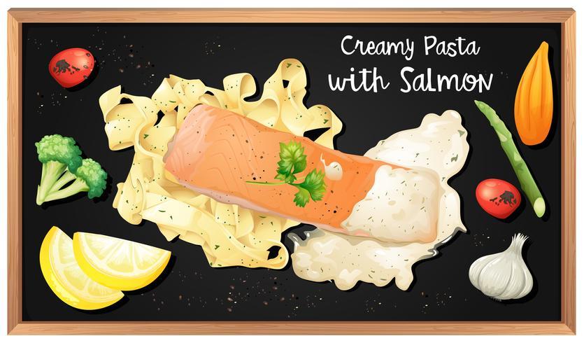 Sauce à la crème de saumon et de pâtes