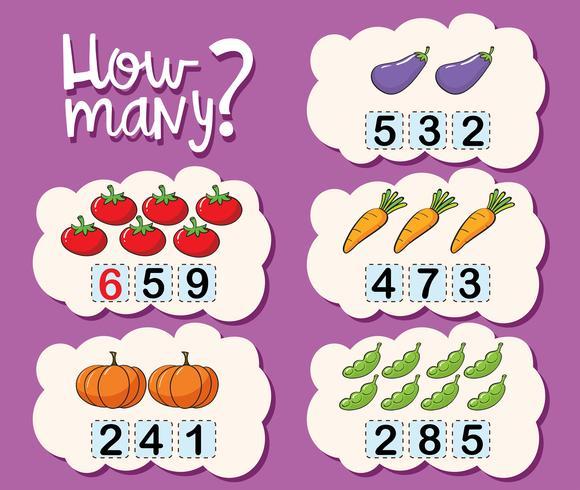 Werkbladsjabloon om te tellen hoeveel