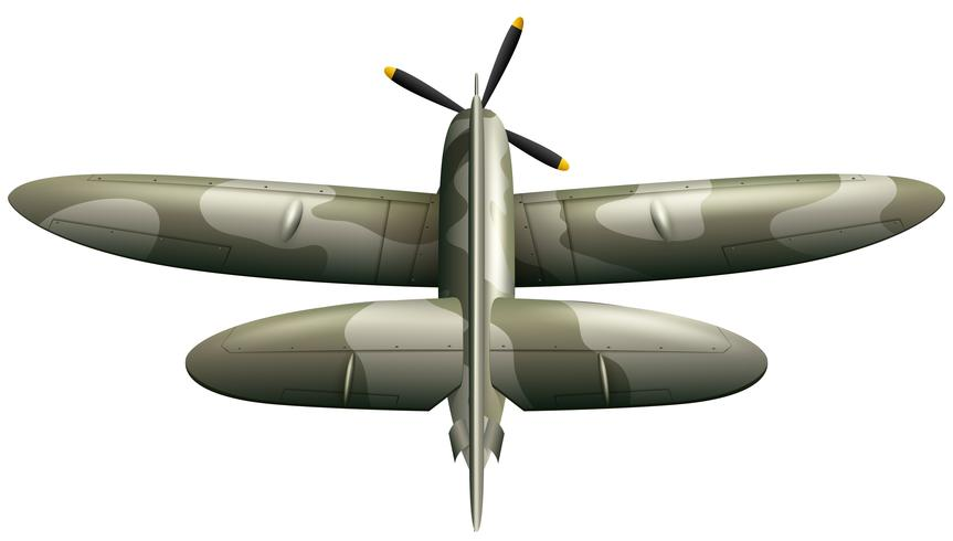 Avión militar sobre fondo blanco