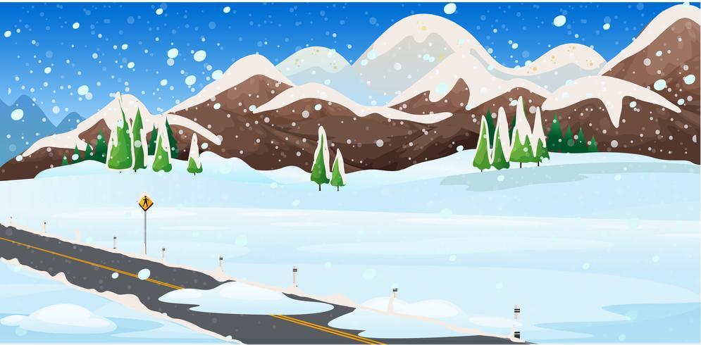 Hintergrundszene mit Schnee auf dem Gebiet