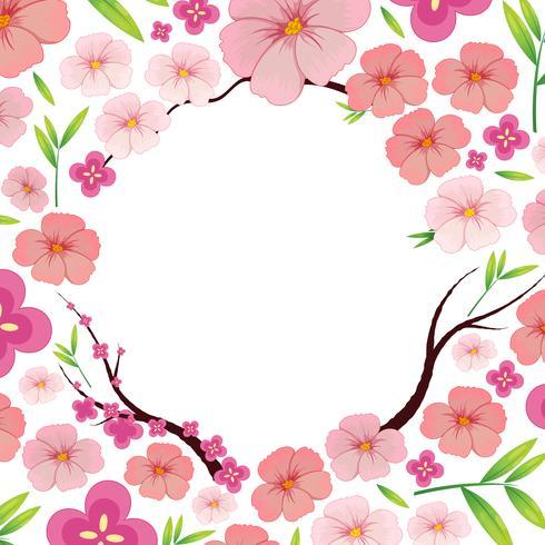 Modelo de Sakura japonesa rosa asiática