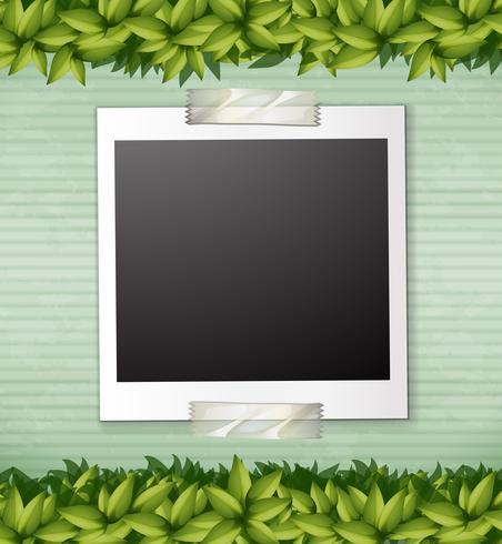 Naturgrön växtnotmall