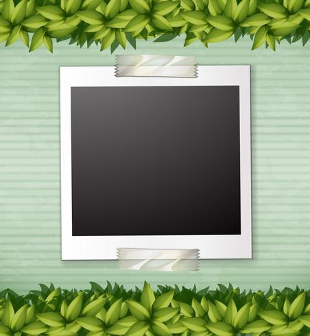 Modelo de nota de planta verde natureza