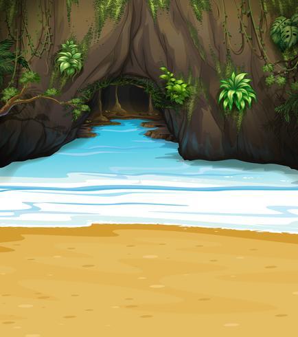 Uma grande caverna