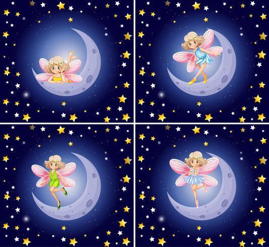 Scènes met feeën en sterren