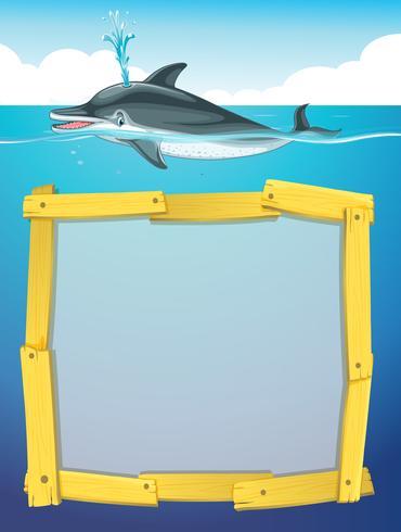 Rahmendesign mit Delphinschwimmen
